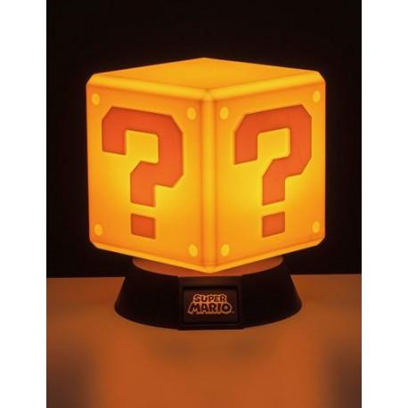 Lámpara Super Mario Bloque Interrogante 10 cm