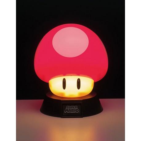 Lámpara Super Mario Súper Champiñón Rojo 10 cm