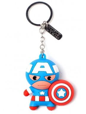 Llavero caucho 3D Capitán América Marvel