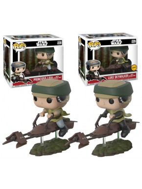 Funko Pack! Leia + Luke Speeder Bike Chase Edition