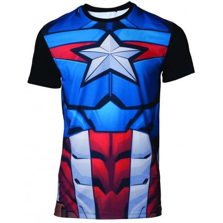 Camiseta Cosplay Capitán América