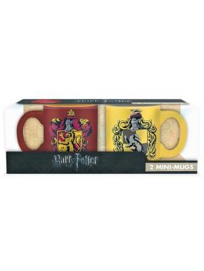 Set 2 mini tazas Gryffindor y Hufflepuff Harry Potter