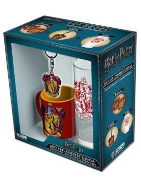 Pack regalo Gryffindor Taza + Vaso + Llavero