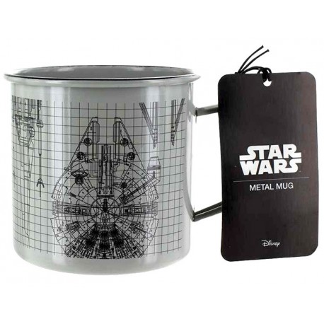Taza metal Star Wars Naves Espaciales