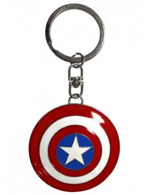 Llavero metal 3D Capitán América Marvel Escudo
