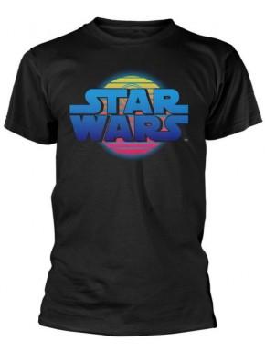 Camiseta Star Wars Estrella Muerte Neón
