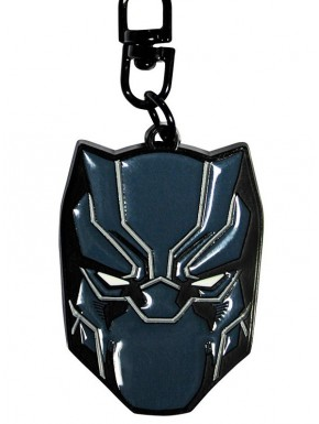 Llavero metálico Black Panther Head Marvel