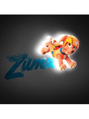 lampara de pared Patrulla Canina Zuma