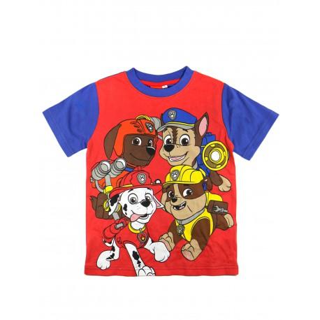 Camiseta patrulla canina azul y roja
