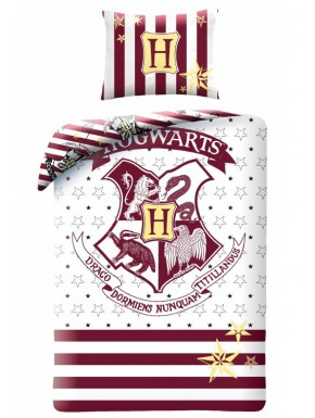 Funda Nórdica Hogwarts Harry Potter White