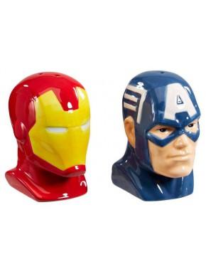 Salero y Pimentero Iron Man & Captain America Funko