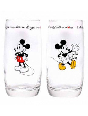 Pack 2 vasos cristal Mickey Mouse Disney 350 ml
