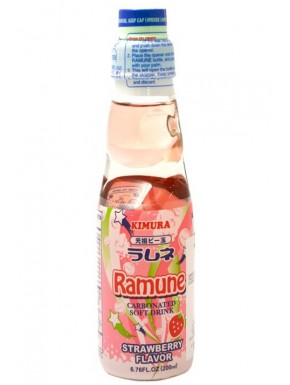 Ramune sabor Fresa Refresco 200 ml