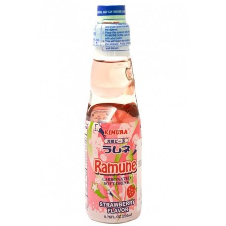Ramune sabor Fresa Refresco 200 ml