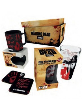 Pack regalo The Walking Dead Vaso + Taza + Posavasos