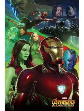 Póster Vengadores Infinity War 61 x 91 cm Iron Man