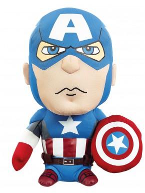 Peluche con sonido Capitán América Avengers Marvel 24 cm