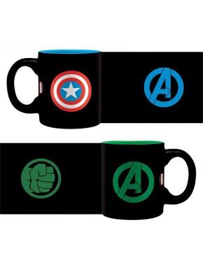 Set 2 mini tazas Capitán América y Hulk Avengers