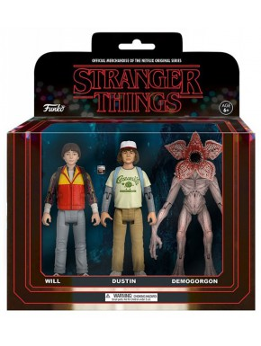 Pack 3 figuras articuladas Stranger Things  Will Dustin Demogorgon