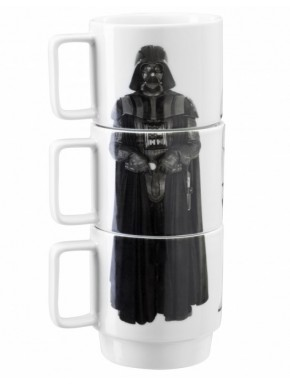 Set 3 tazas apilables Star Wars Vader, Stormtrooper y Guardia Imperial