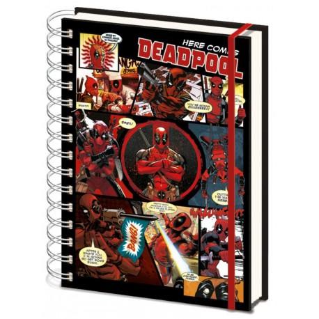 Libreta espiral A5 Deadpool