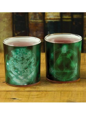 Pack Vasos cristal Harry Potter Patronus 400 ml