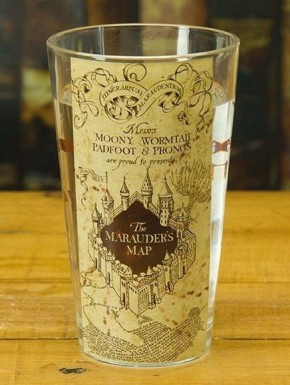 Vaso cristal Harry Potter Mapa del Merodeador 400 ml