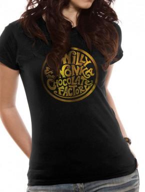 Camiseta chica Charlie y la fábrica de chocolate Gold