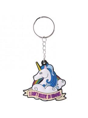 Llavero de PVC Unicornio con Mensaje