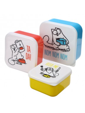Set de 3 Fiambreras - Simon's Cat