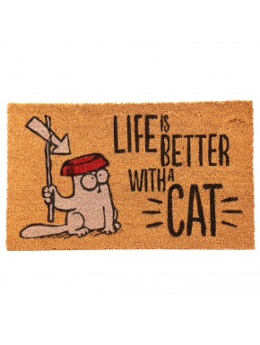 Felpudo de Coco Simon's Cat Life Is Better With A Cat