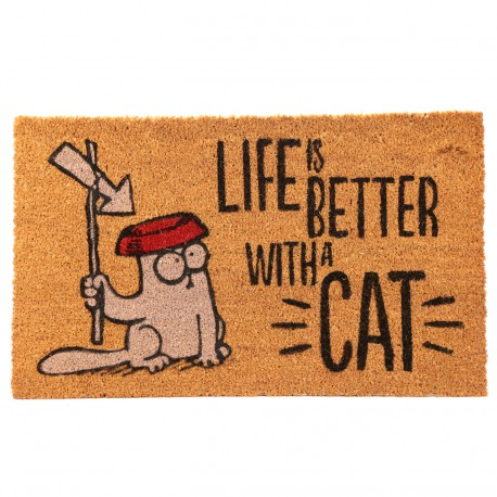 Felpudo de Coco - Simon's Cat. Life Is Better With A Cat