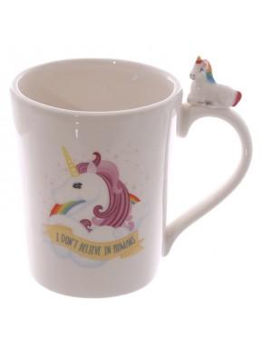 Taza de Cerámica con Unicornio pequeño en el Asa