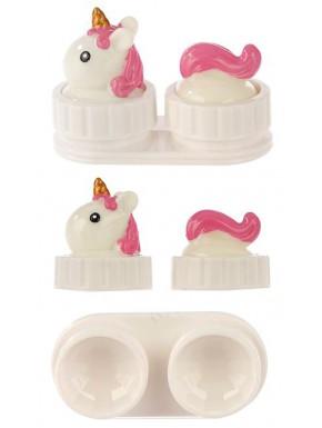 Estuche para Lentillas - Tapa de Unicornio