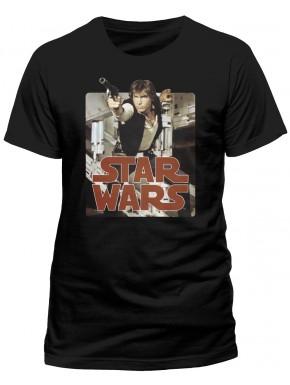 Camiseta Star Wars Han Solo Retro Badge