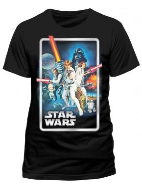 Camiseta Star Wars Póster Una Nueva Esperanza