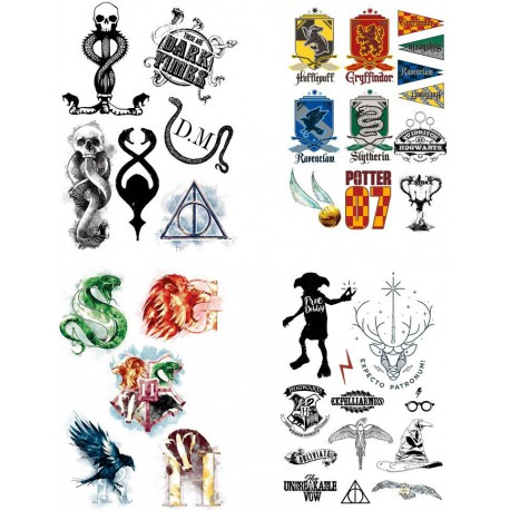 Set 35 Tatuajes Temporales Harry Potter
