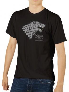 Camiseta Emblema Stark Juego de Tronos Negra