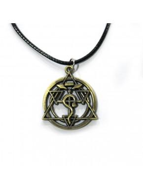 Colgante circulo transmutación bronce