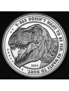 Réplica Moneda Jurassic Park 25 Aniversario T-Rex