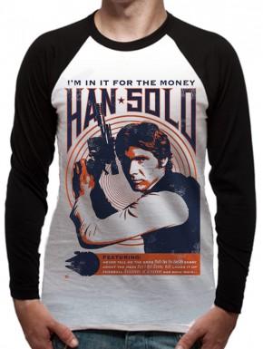 Camiseta manga larga Star Wars Han Solo Vintage