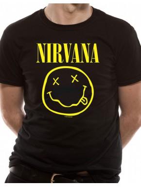 Camiseta Nirvana Logo Smile