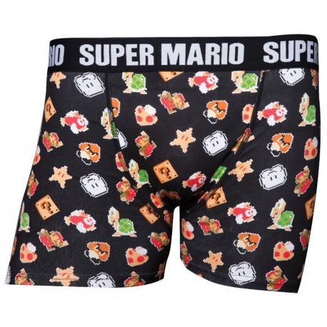 Boxer Super Mario Nintendo Pixel