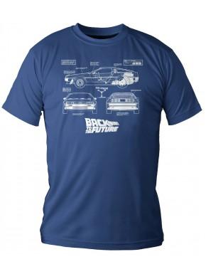 Camiseta Regreso al Futuro DeLorean Planos