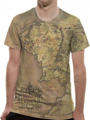 Camiseta Mapa Tierra Media El Señor de los Anillos