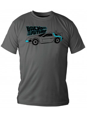Camiseta Regreso al Futuro Delorean Gris