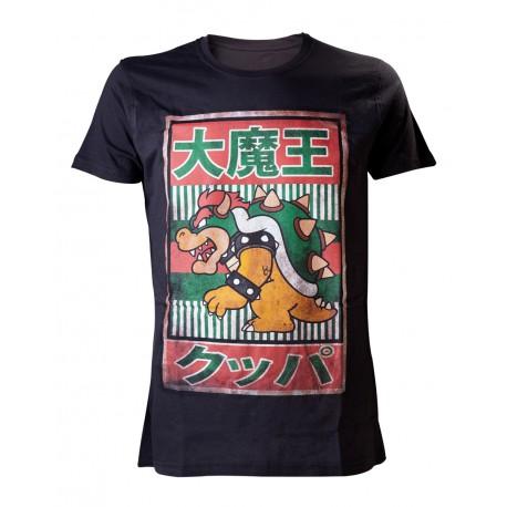 Camiseta Super Mario Bowser Kanji