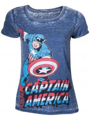Camiseta Chica Capitán América Marvel