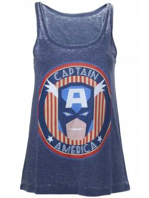 Camiseta Chica Capitan América Vintage Marvel