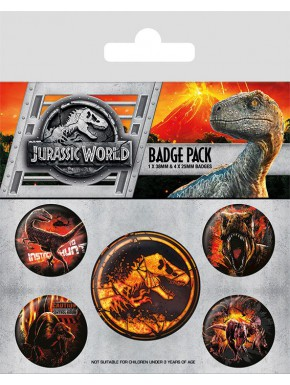 Pack Chapas Jurassic World El Reino Caído